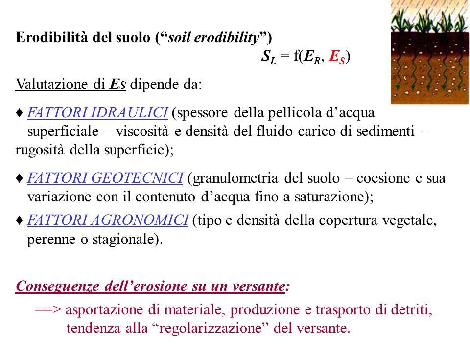Erodibilità del suolo ( soil erodibility )