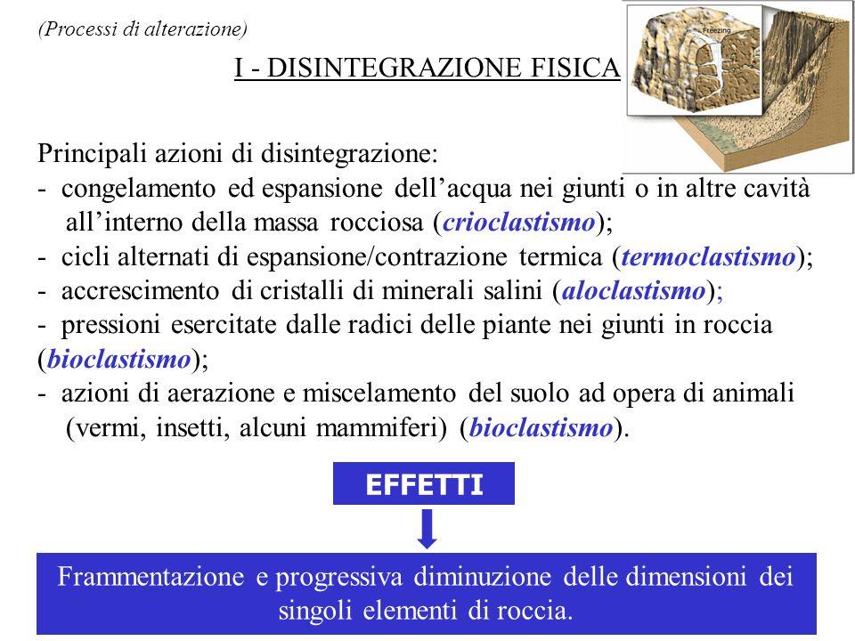 I - DISINTEGRAZIONE FISICA