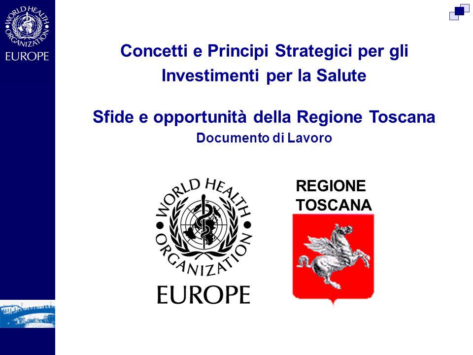 Concetti e Principi Strategici per gli Investimenti per la Salute