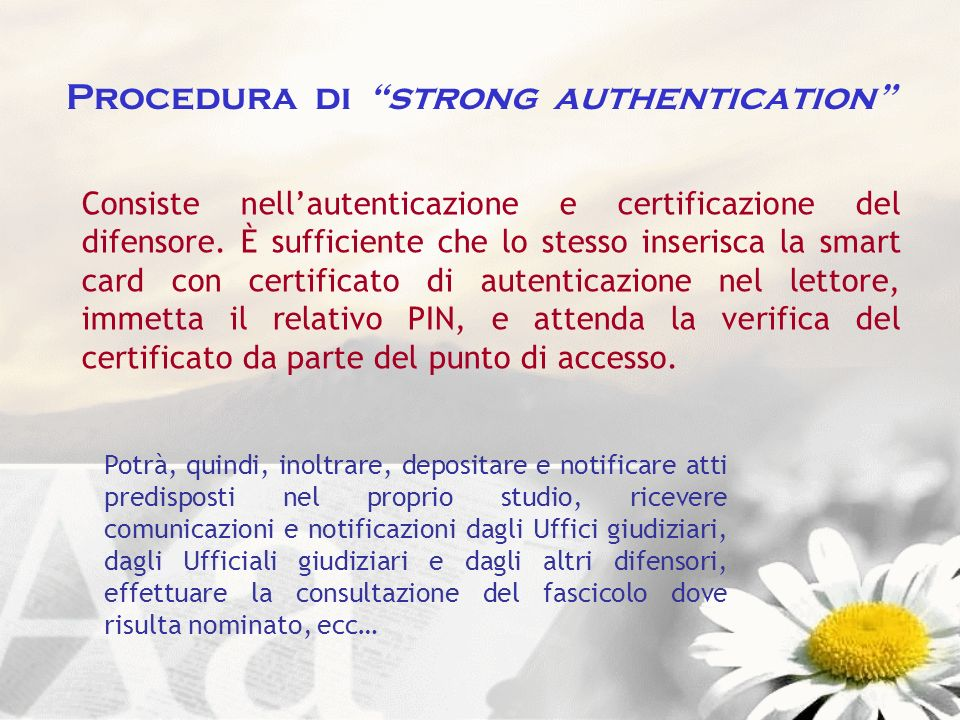 Procedura di strong authentication