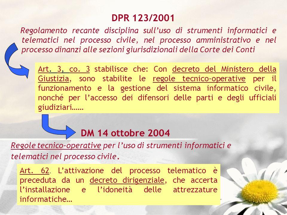 DPR 123/2001