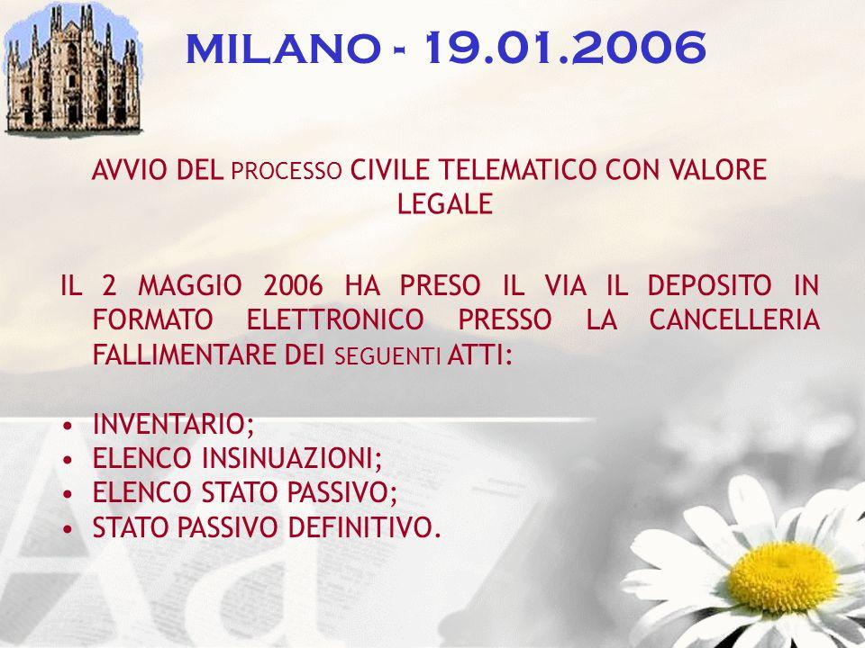 AVVIO DEL PROCESSO CIVILE TELEMATICO CON VALORE LEGALE