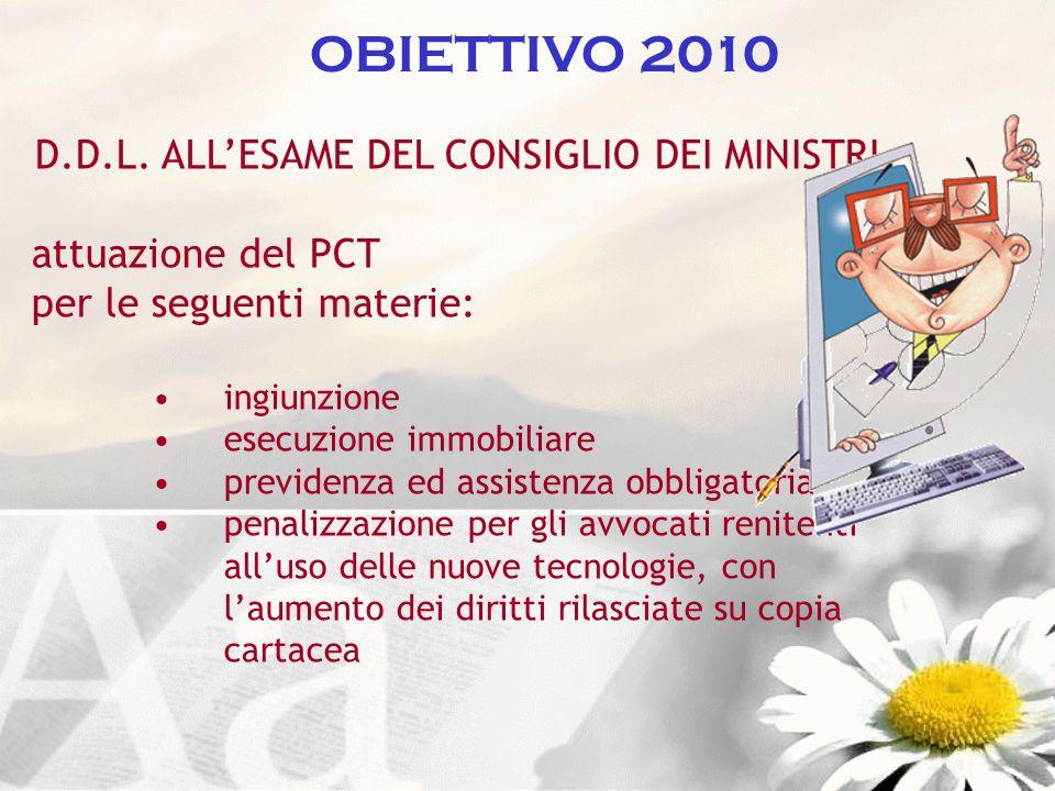 D.D.L. ALL'ESAME DEL CONSIGLIO DEI MINISTRI