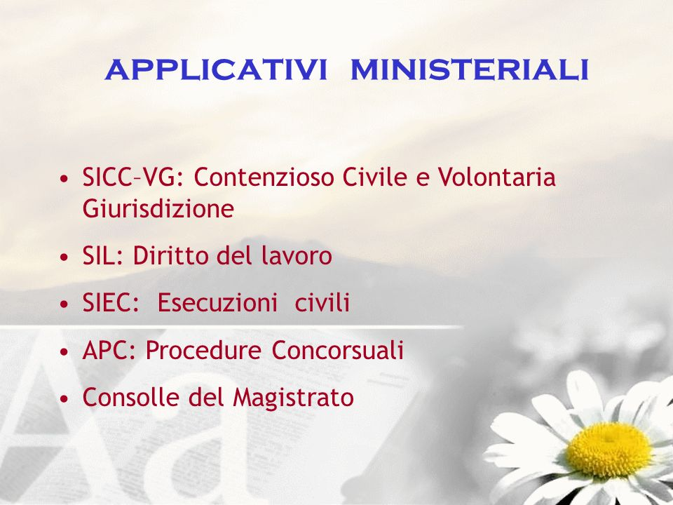 applicativi ministeriali