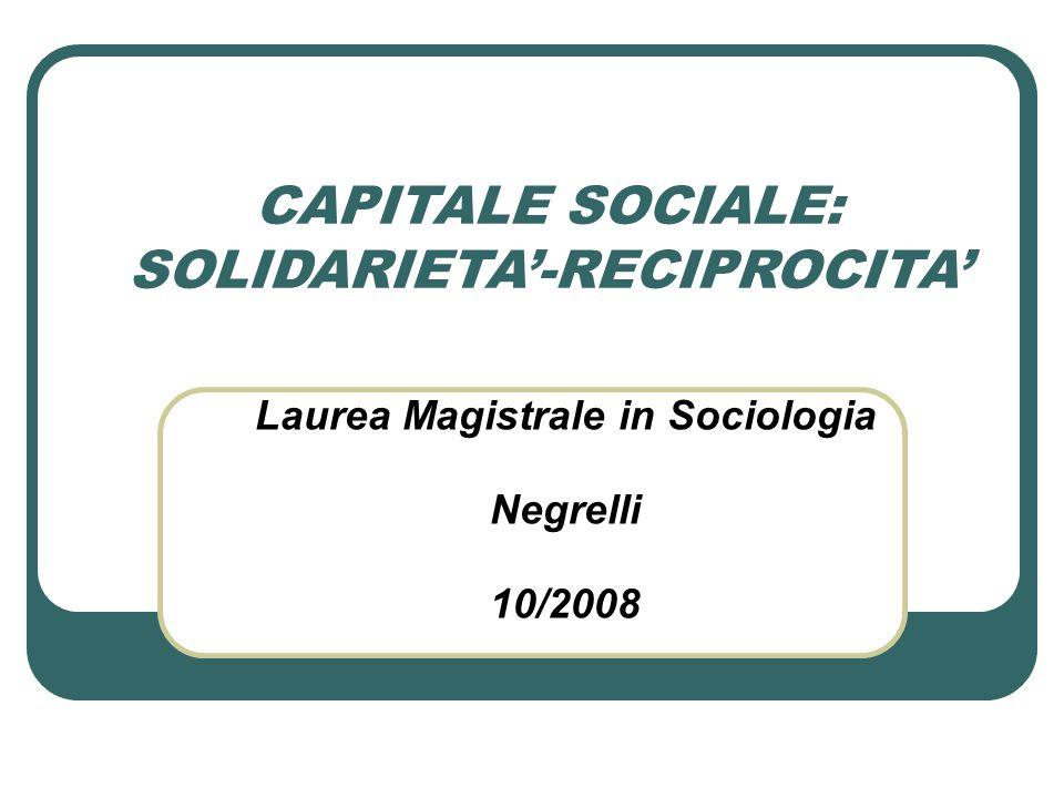 Laurea Magistrale in Sociologia