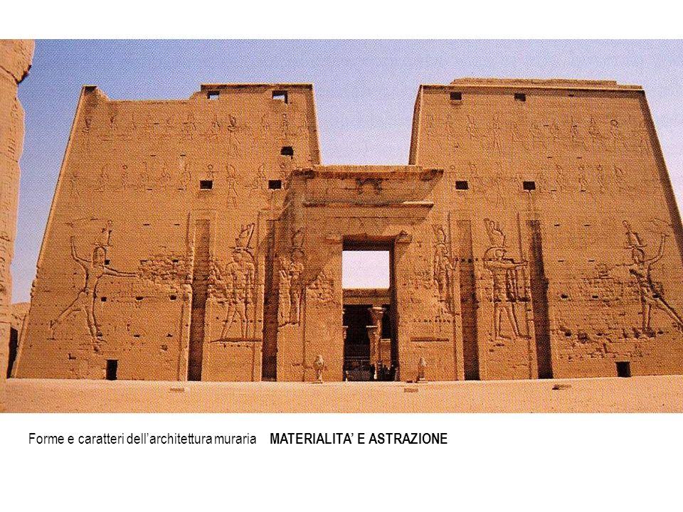 Forme e caratteri dell'architettura muraria MATERIALITA' E ASTRAZIONE
