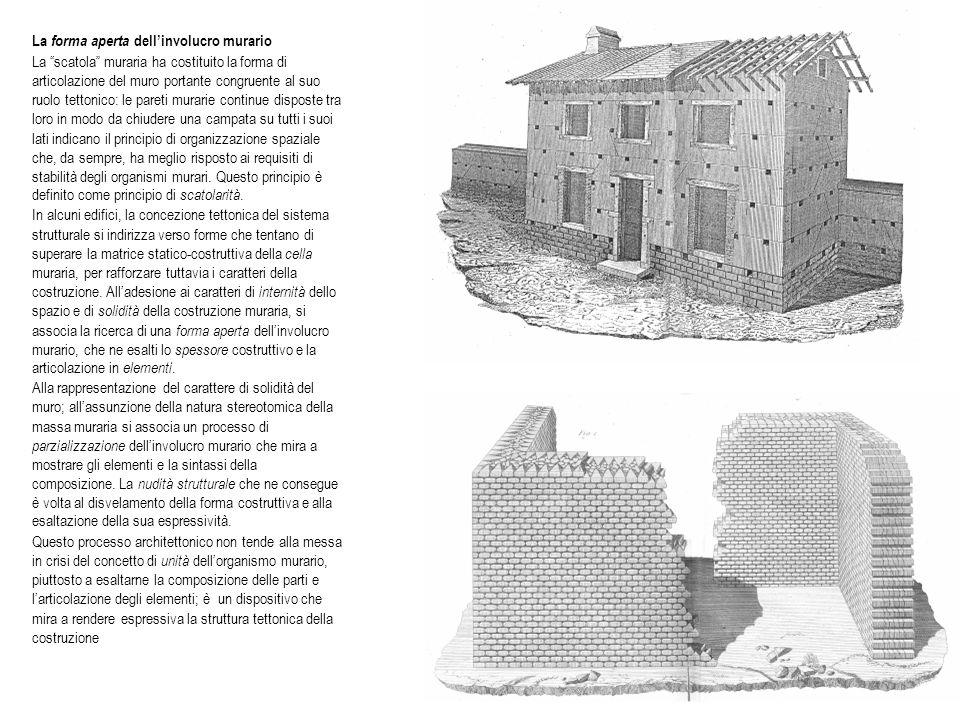 La forma aperta dell'involucro murario