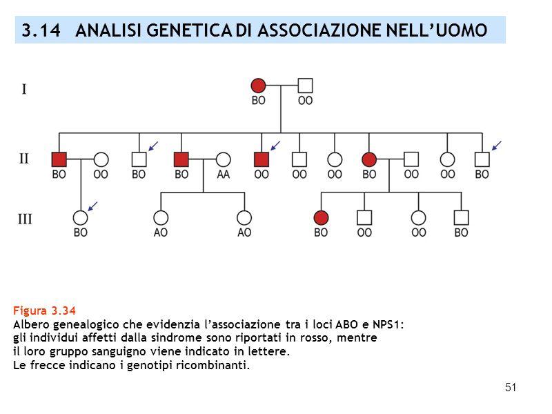 3.14 ANALISI GENETICA DI ASSOCIAZIONE NELL'UOMO