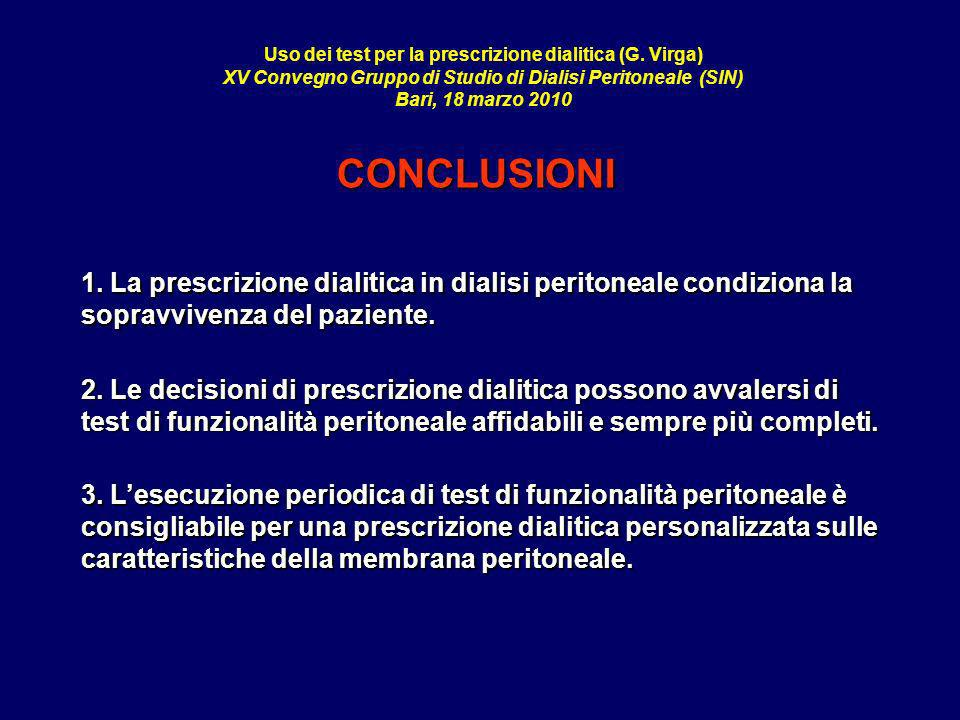Uso dei test per la prescrizione dialitica (G