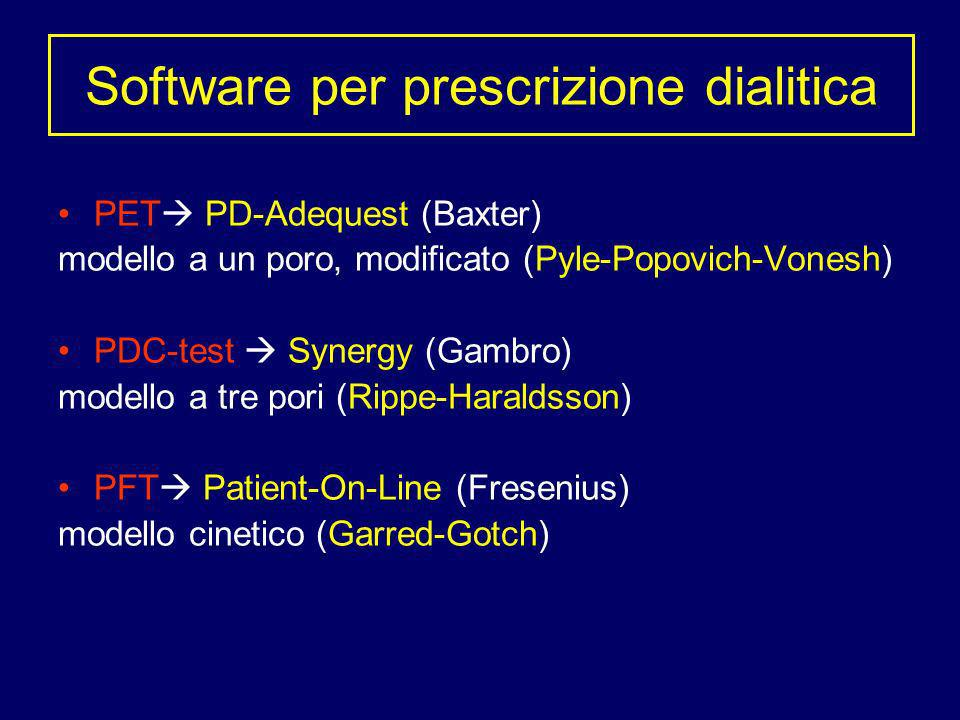 Software per prescrizione dialitica