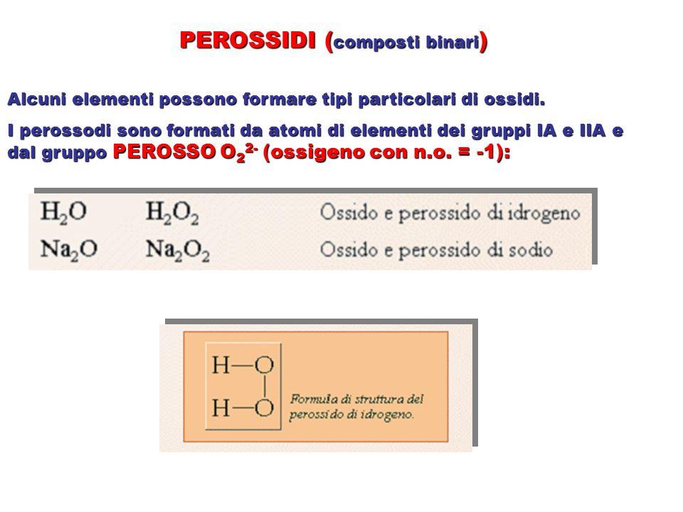 PEROSSIDI (composti binari)
