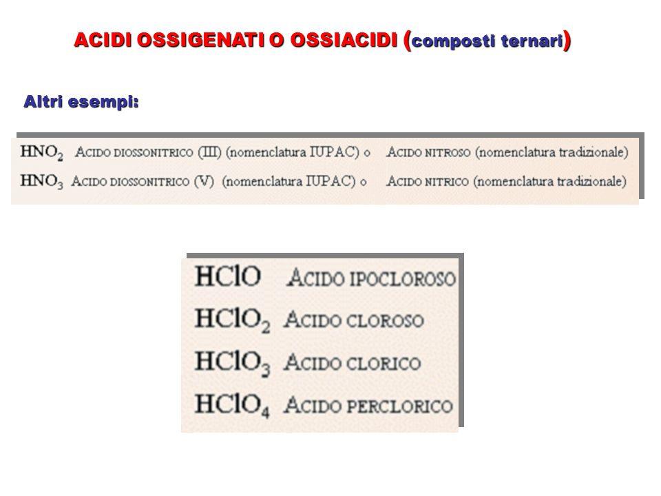 ACIDI OSSIGENATI O OSSIACIDI (composti ternari)