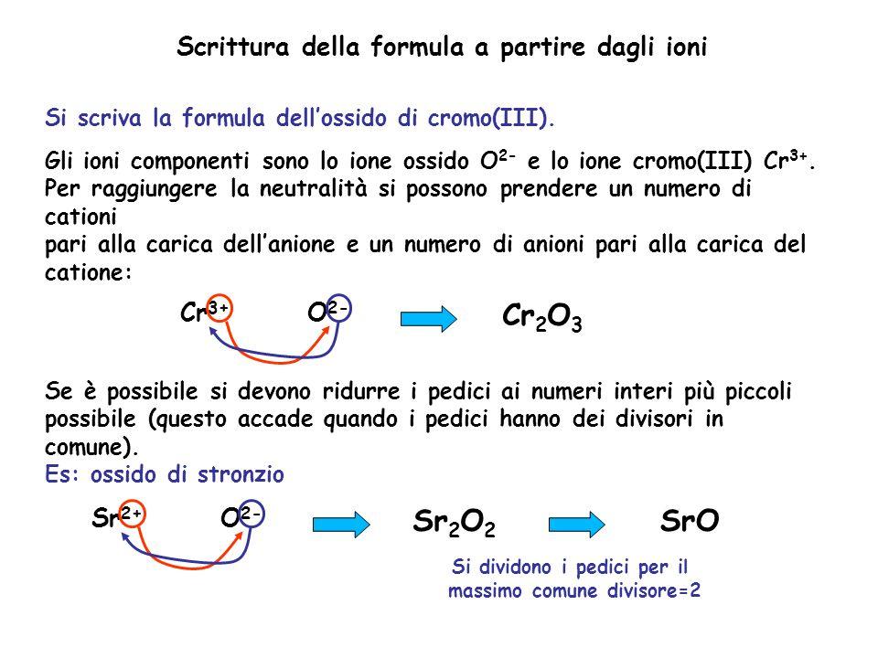 Si dividono i pedici per il massimo comune divisore=2