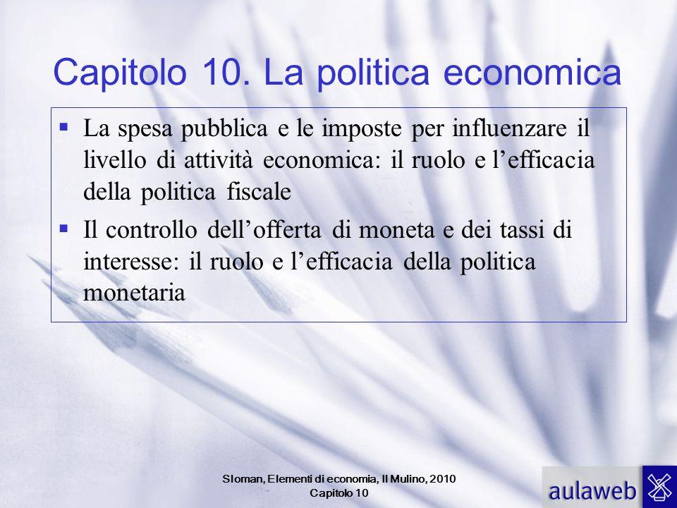 Sloman, Elementi di economia, Il Mulino, 2010