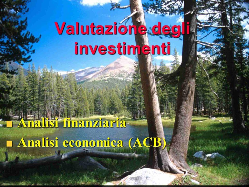 Valutazione degli investimenti