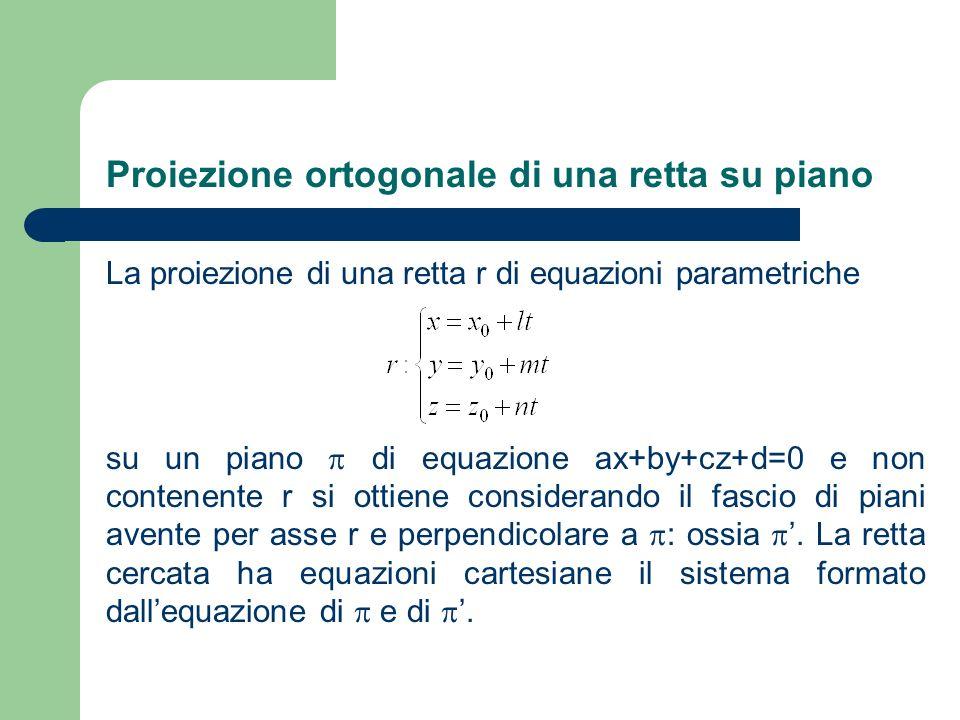Proiezione ortogonale di una retta su piano