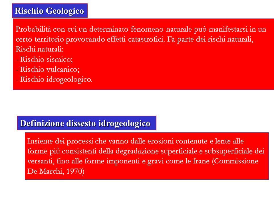 Definizione dissesto idrogeologico
