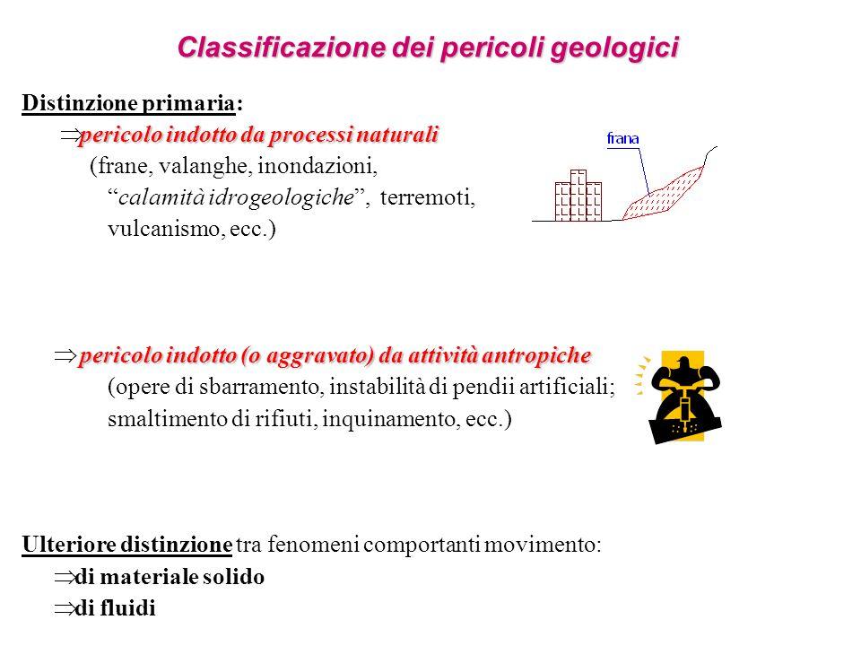 Classificazione dei pericoli geologici