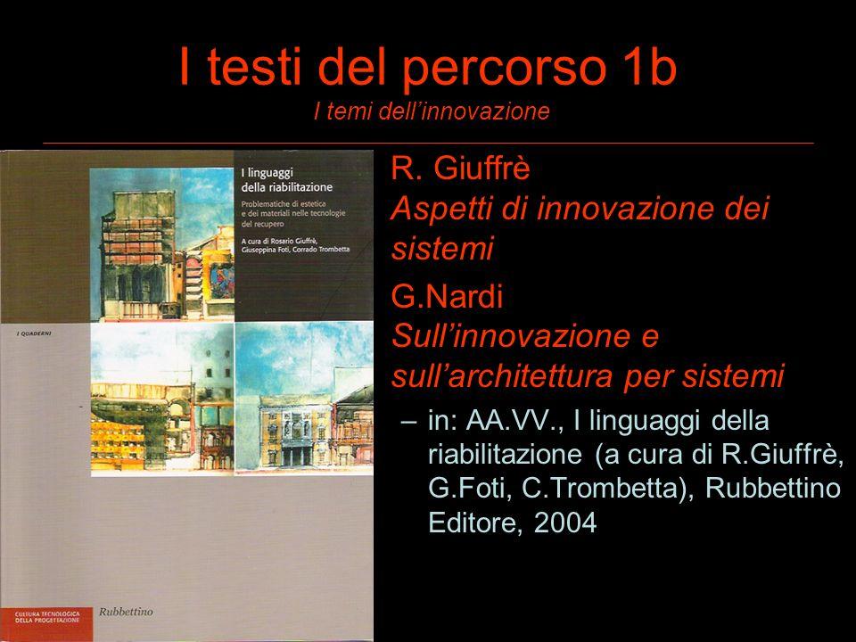 I testi del percorso 1b I temi dell'innovazione