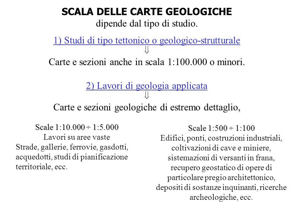 SCALA DELLE CARTE GEOLOGICHE
