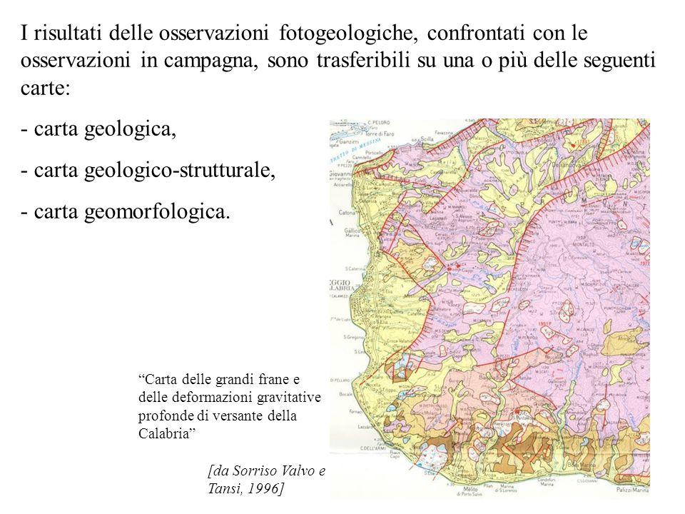 - carta geologico-strutturale, - carta geomorfologica.