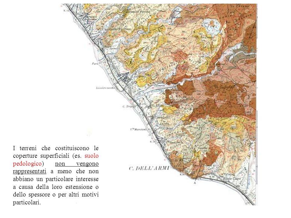 I terreni che costituiscono le coperture superficiali (es