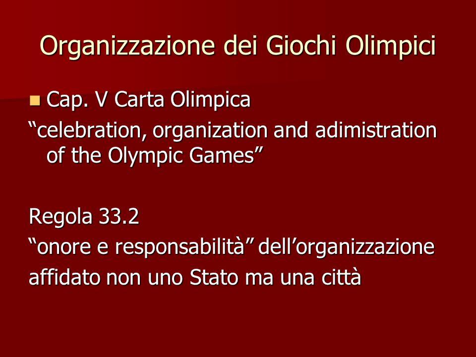 Organizzazione dei Giochi Olimpici