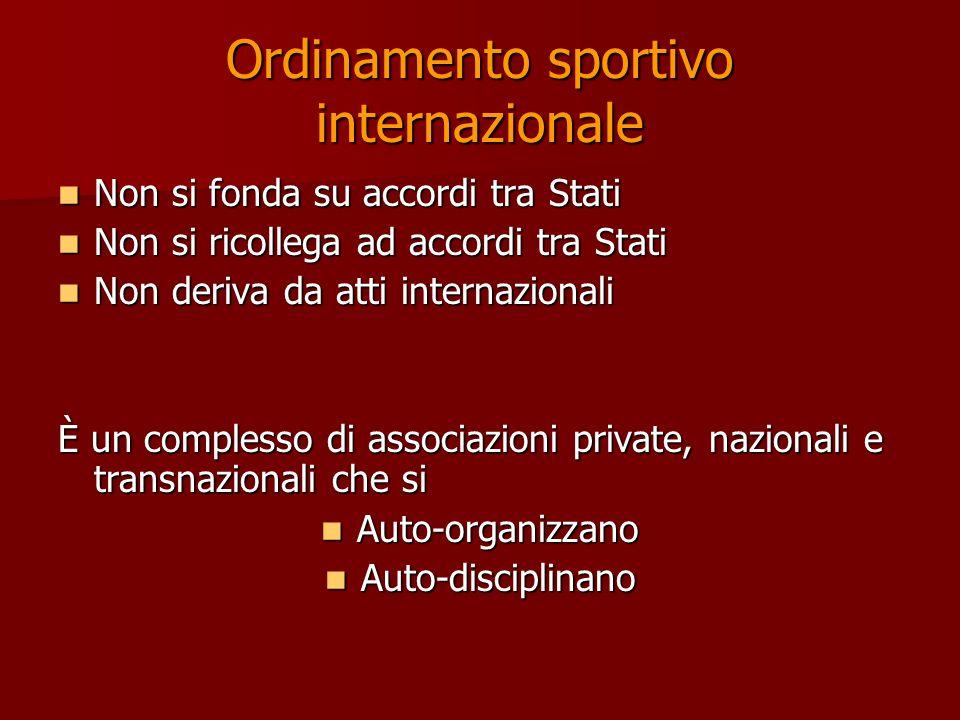 Ordinamento sportivo internazionale