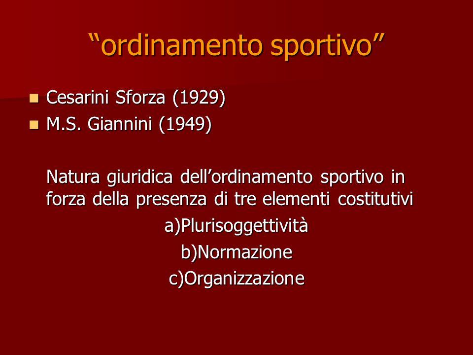 ordinamento sportivo