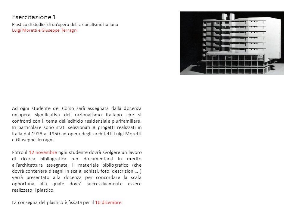 Esercitazione 1 Plastico di studio di un'opera del razionalismo italiano. Luigi Moretti e Giuseppe Terragni.