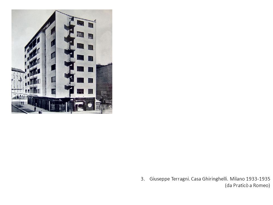 3. Giuseppe Terragni. Casa Ghiringhelli. Milano 1933-1935