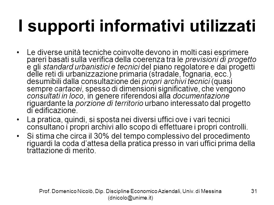 I supporti informativi utilizzati