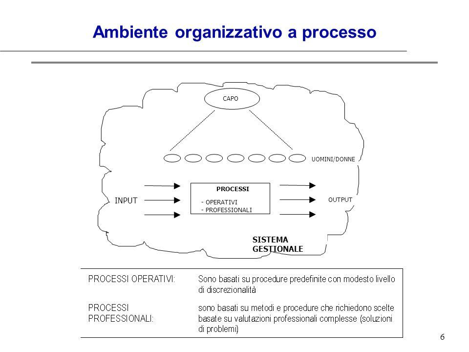 Ambiente organizzativo a processo