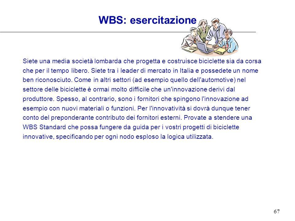 WBS: esercitazione