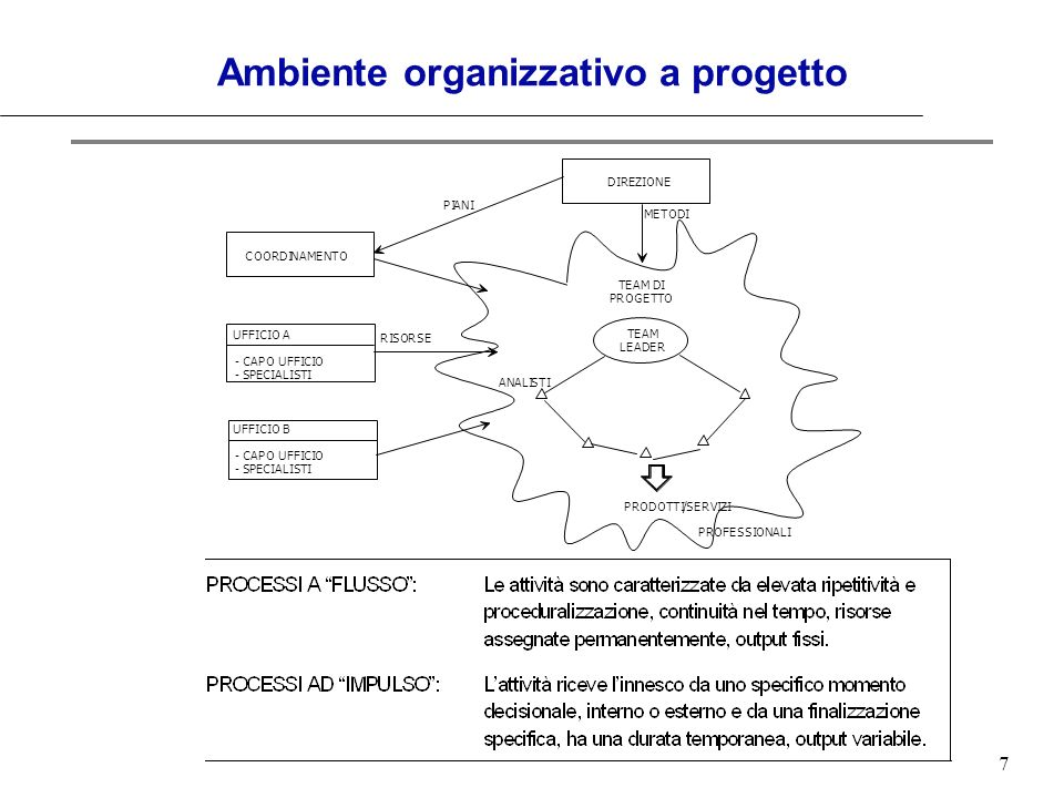 Ambiente organizzativo a progetto