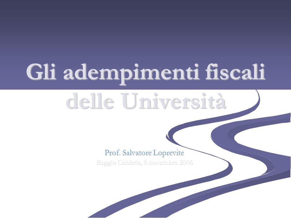 Gli adempimenti fiscali delle Università
