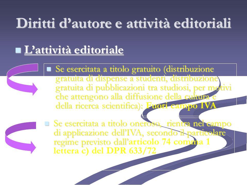 Diritti d'autore e attività editoriali