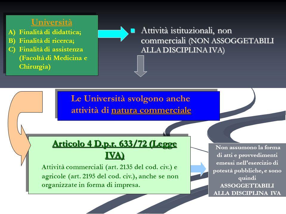 Articolo 4 D.p.r. 633/72 (Legge IVA)