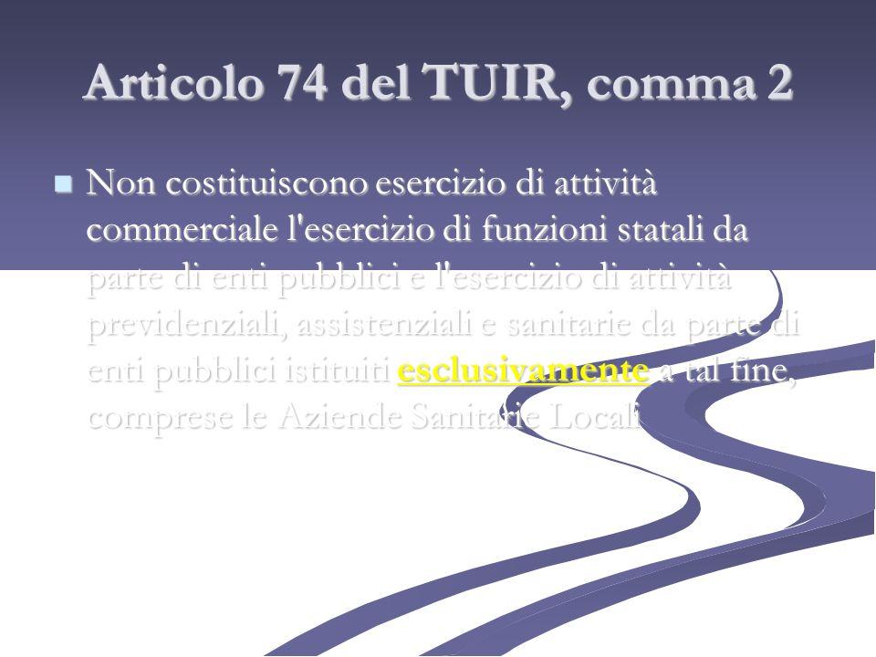 Articolo 74 del TUIR, comma 2