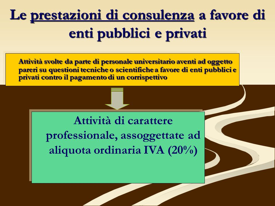 Le prestazioni di consulenza a favore di enti pubblici e privati