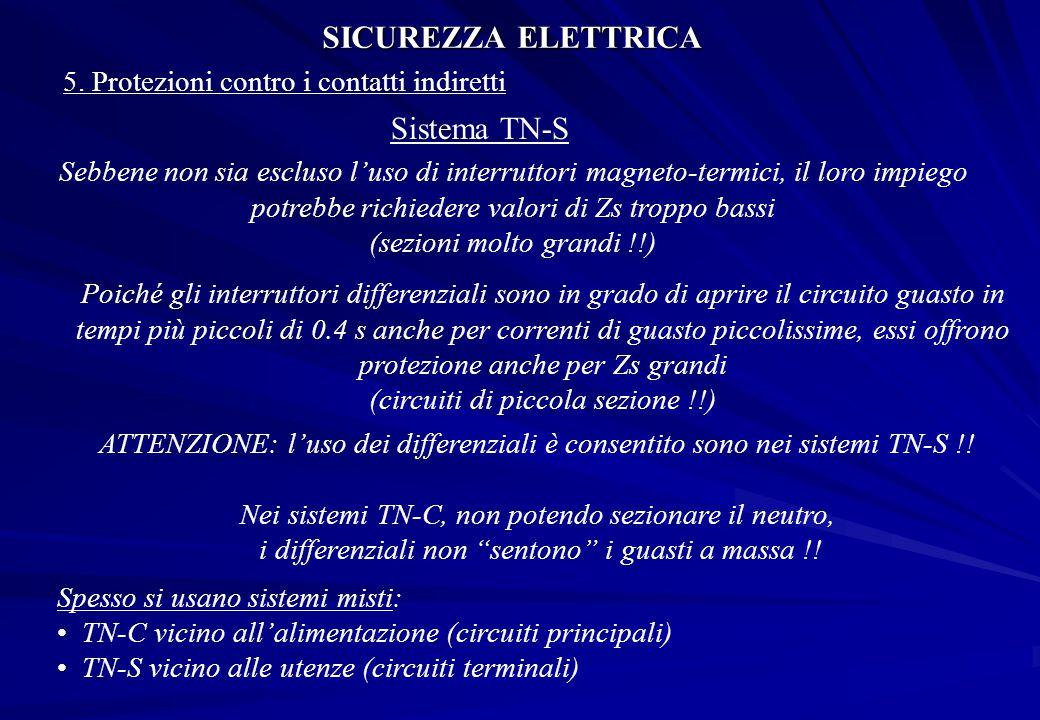 SICUREZZA ELETTRICA Sistema TN-S