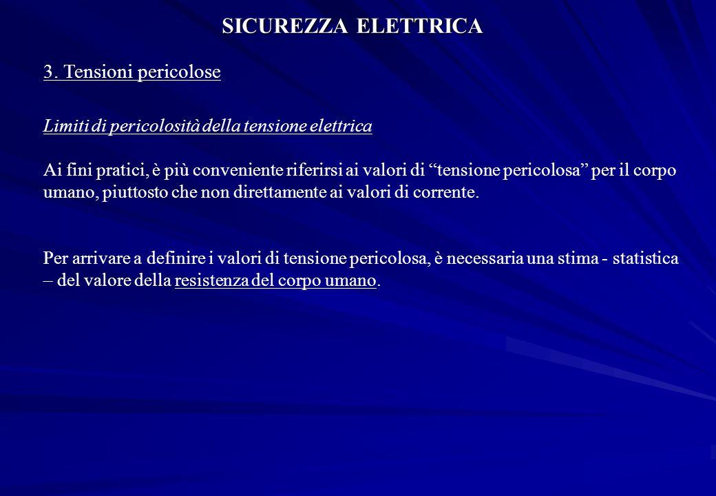 SICUREZZA ELETTRICA 3. Tensioni pericolose