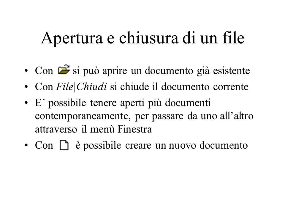 Apertura e chiusura di un file