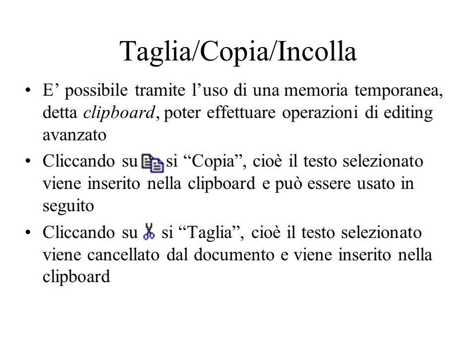 Taglia/Copia/Incolla
