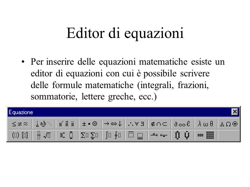 Editor di equazioni