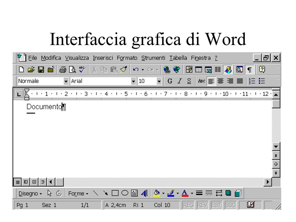Interfaccia grafica di Word