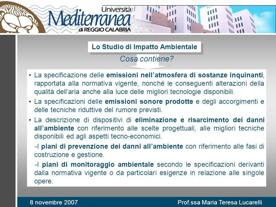 Lo Studio di Impatto Ambientale