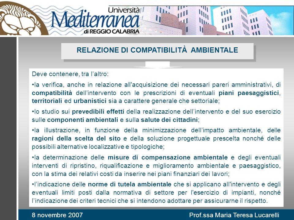 RELAZIONE DI COMPATIBILITÀ AMBIENTALE