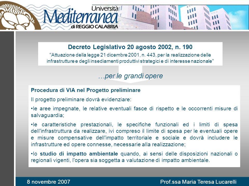 Decreto Legislativo 20 agosto 2002, n. 190