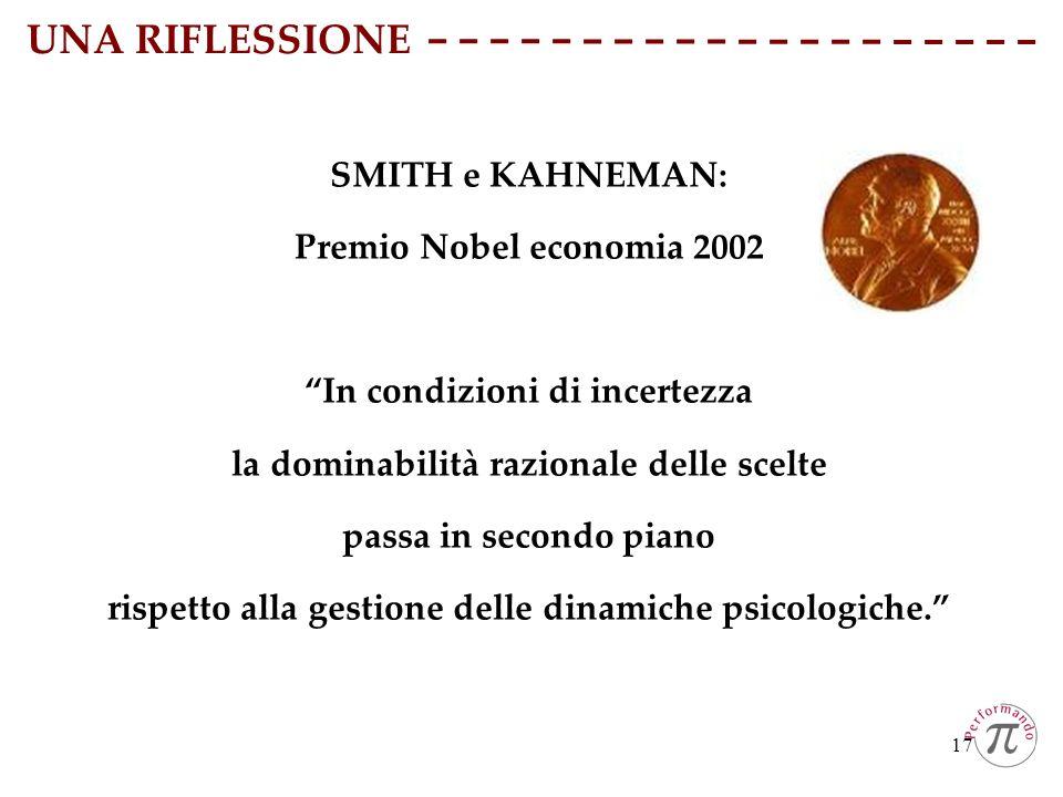 UNA RIFLESSIONE SMITH e KAHNEMAN: Premio Nobel economia 2002